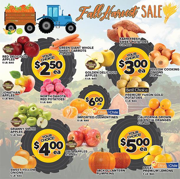 Fall Harvest Sale