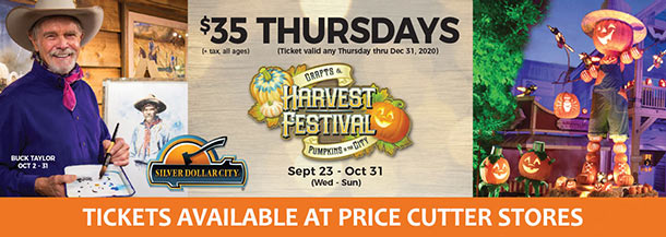 Silver Dollar City Tickets at Price Cutter