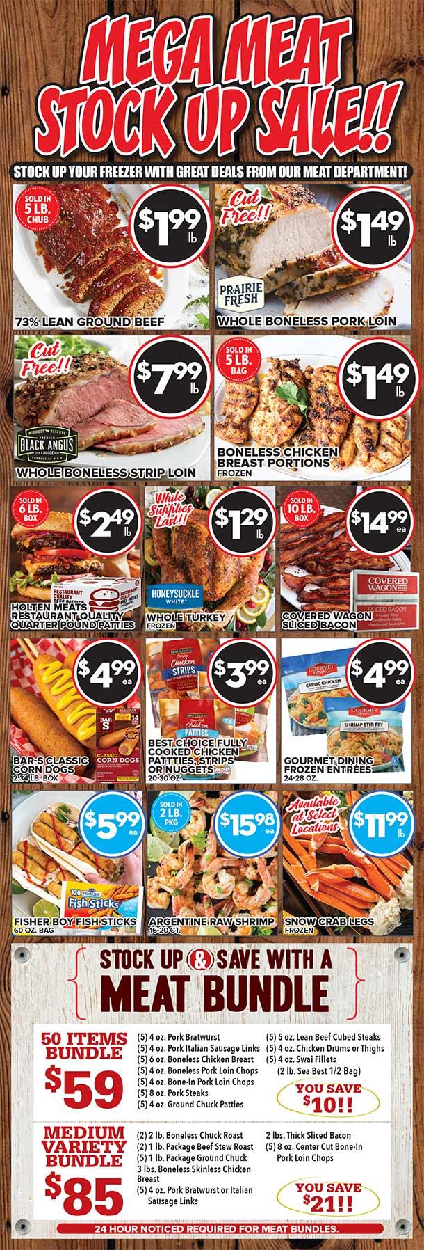 Mega Meat Stock Up Sale